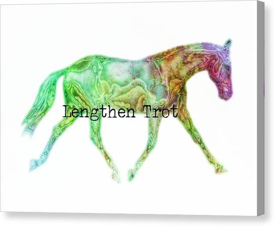 Lengthen Trot Watercolor Quote Canvas Print by JAMART Photography