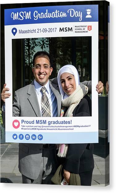 Schools Canvas Print - Msm Graduation Ceremony 2017 by Maastricht School Of Management