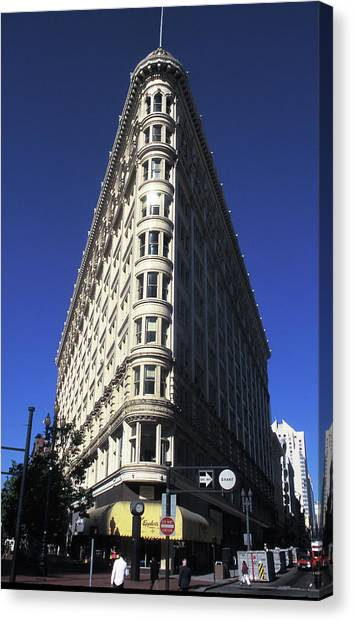 Phelan Building In San Francisco Canvas Print by Carl Purcell