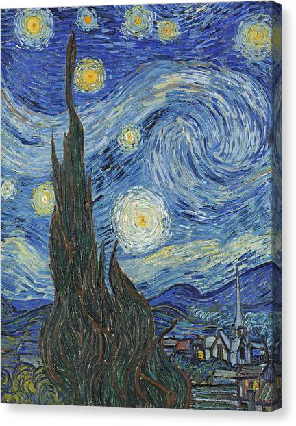 Vincent Van Gogh Canvas Print - The Starry Night by Vincent Van Gogh