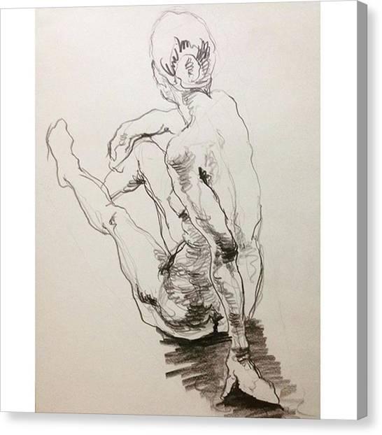 Watercolor Canvas Print - Figure by Naoki Suzuka