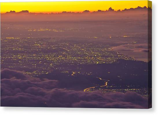 Ocean Sunrises Canvas Print - Landscape by Super Lovely