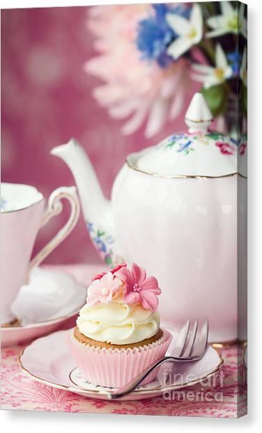 Tea Set Canvas Print - Afternoon Tea by Ruth Black