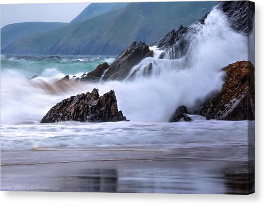 Beach Cliffs Canvas Print - Dingle Peninsula - Ireland by Joana Kruse