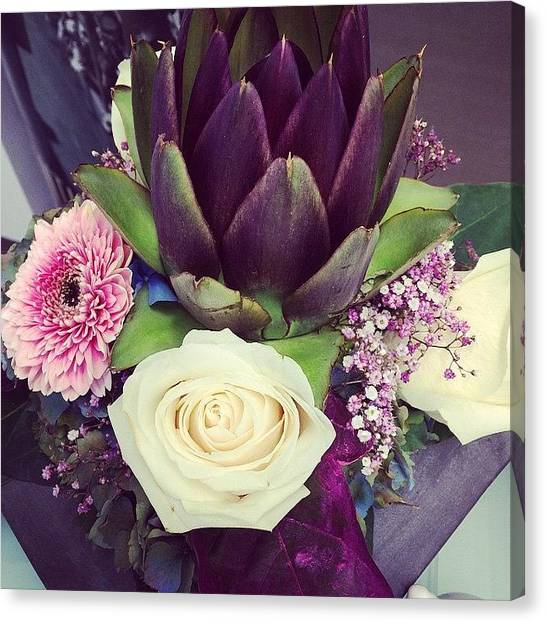 Artichoke Canvas Print - #flowers by Biljana Jugovic