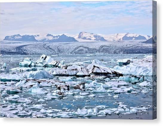 Vatnajokull Glacier Canvas Print - Jokulsarlon - Iceland by Joana Kruse