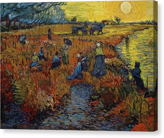Vincent Van Gogh Canvas Print - The Red Vineyard by Jerzy Lisak
