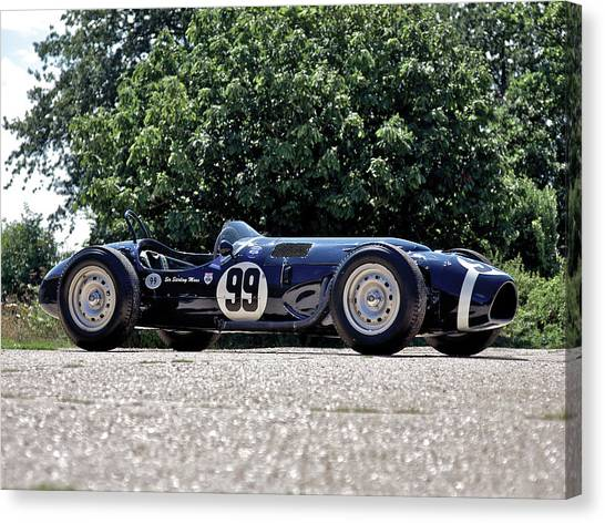 Race Cars Canvas Print - Race Car by Super Lovely