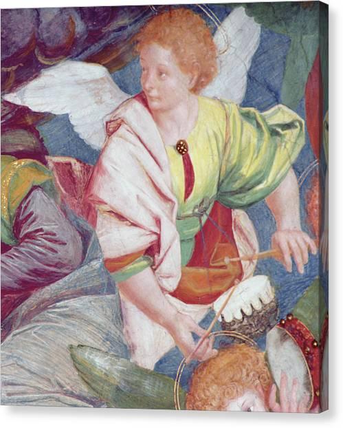 Bongos Canvas Print - The Concert Of Angels by Gaudenzio Ferrari