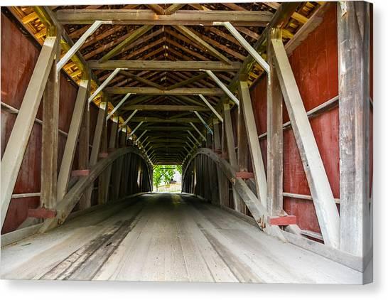 143 Feet Of Covered Bridge Canvas Print
