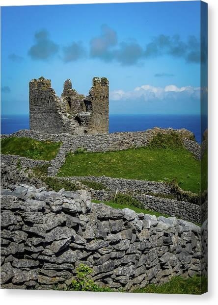 Canvas Print featuring the photograph 14th Century O'brien's Castle Aran Islands by James Truett