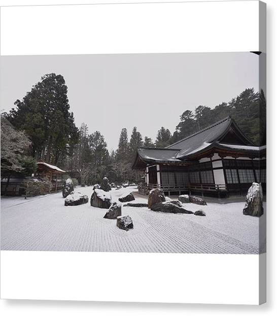 Samurai Canvas Print - #金剛峯寺 #高野山 #蟠龍庭 by Koki Takezawa