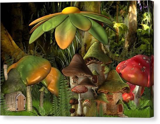 Banana Tree Canvas Print - Fantasy by Super Lovely