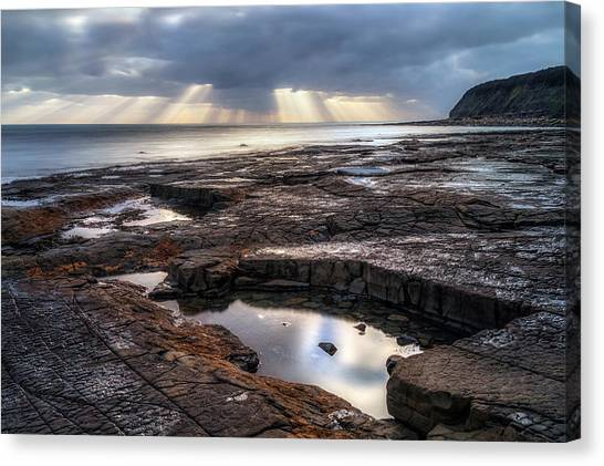 Peace Tower Canvas Print - Kimmeridge Bay - England by Joana Kruse
