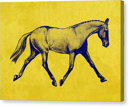 Lengthen Trot Duotone Canvas Print by JAMART Photography