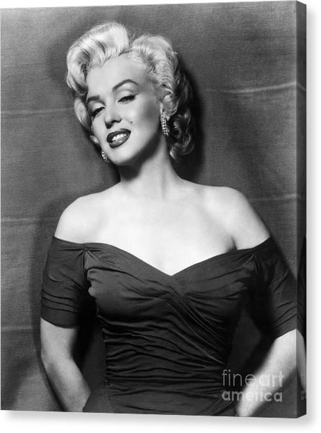 Actor Canvas Print - Marilyn Monroe (1926-1962) by Granger