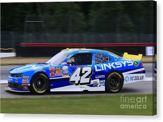 Joe Gibbs Canvas Print - Justin Marks Racing by Douglas Sacha