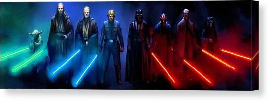 Obi-wan Kenobi Canvas Print - Star Wars 3 Poster by Larry Jones