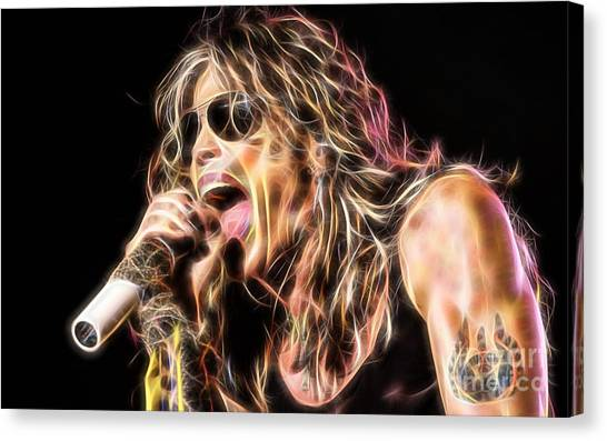 Steven Tyler Canvas Print - Steven Tyler Collection by Marvin Blaine