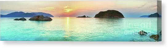 Evening Scenes Canvas Print - Sunrise by MotHaiBaPhoto Prints