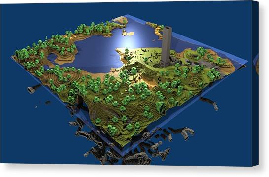Minecraft Canvas Print - 15160 Minecraft by Mery Moon