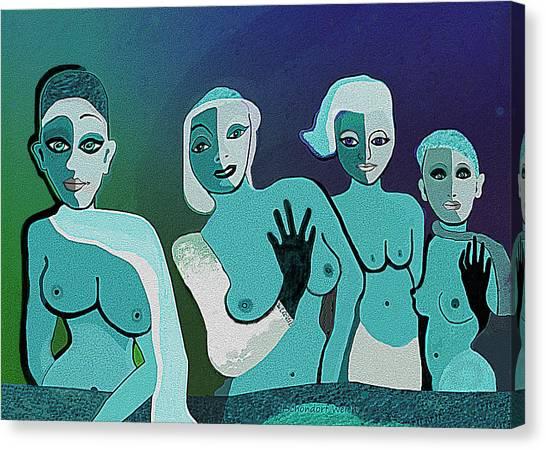 154   Fancy Ladies A Canvas Print
