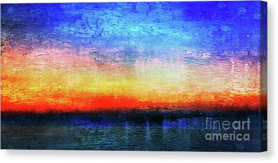 15a Abstract Seascape Sunrise Painting Digital Canvas Print
