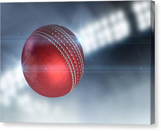 Crickets Canvas Print - Ball Flying Through The Air by Allan Swart