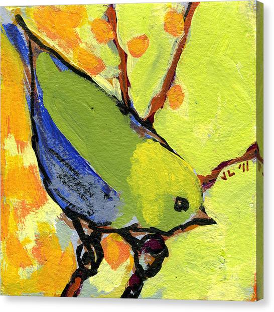 Sparrows Canvas Print - 16 Birds No 2 by Jennifer Lommers