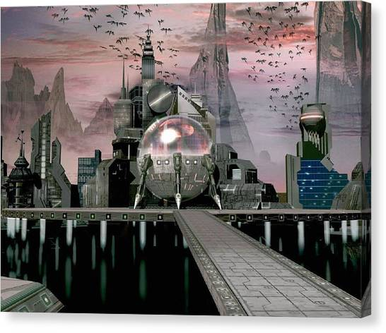 Submarine Canvas Print - Fantasy by Super Lovely
