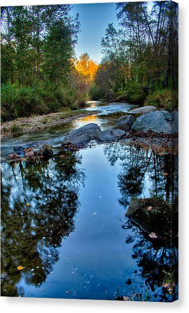 Stone Mountain North Carolina Scenery During Autumn Season Canvas Print