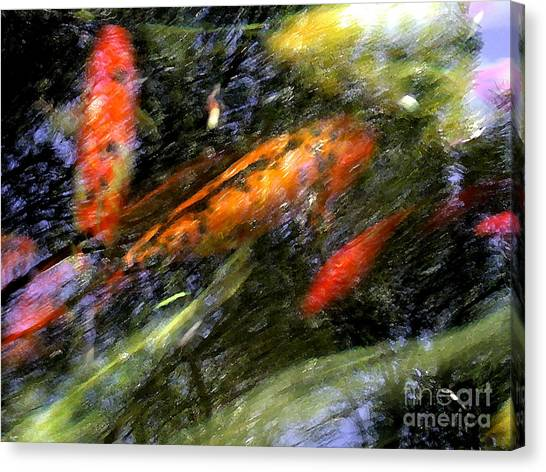 The Koi Pond Canvas Print by Marc Bittan