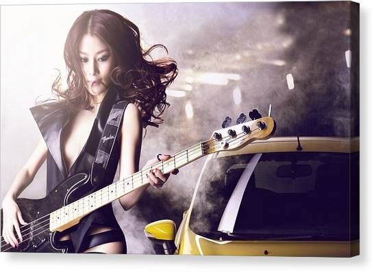 Musical Instruments Canvas Print - Women by Jackie Russo