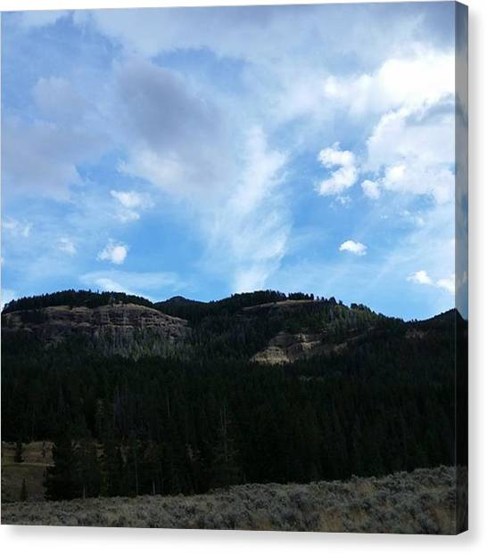 Rocky Mountains Canvas Print - Mountain Majesty by Jonathan Stoops