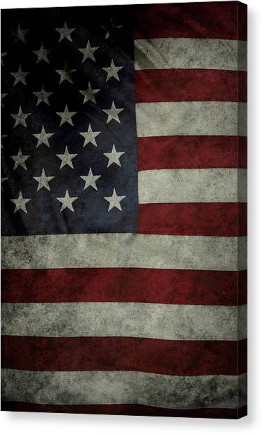 American Flag Canvas Print - American Flag by Les Cunliffe