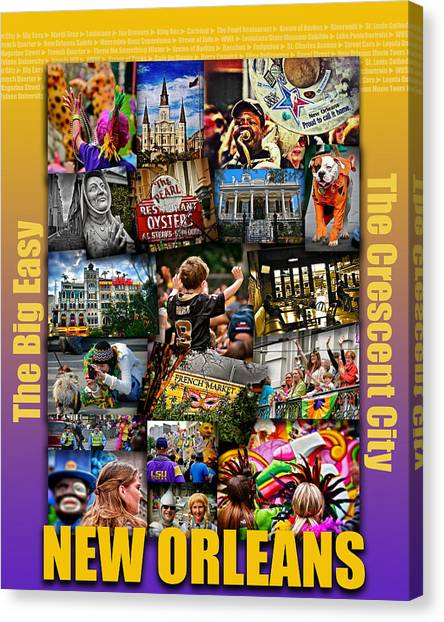 16x20 New Orleans Poster Canvas Print