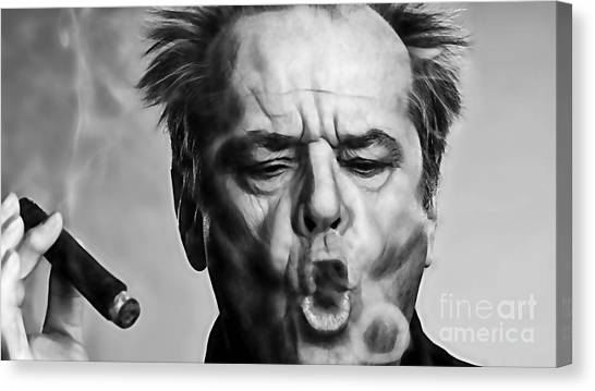 Jack Nicholson Canvas Print - Jack Nicholson Collection by Marvin Blaine