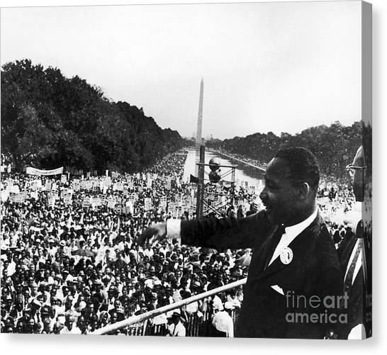 Washington Monument Canvas Print - Martin Luther King, Jr by Granger