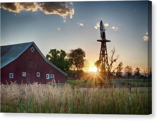 17 Mile House Farm - Sunset Canvas Print