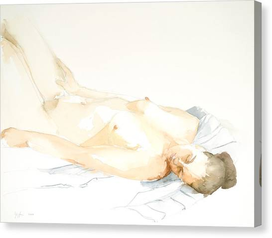 Nude Series Canvas Print by Eugenia Picado
