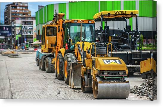 Backhoes Canvas Print - Other by Mariel Mcmeeking
