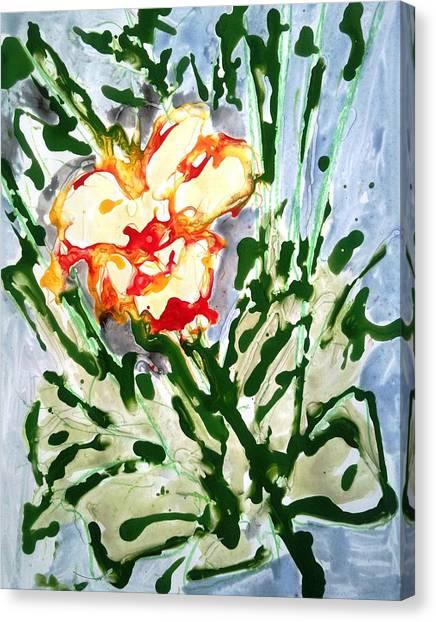 Divine Flowers Canvas Print by Baljit Chadha