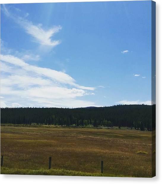 Yellowstone National Park Canvas Print - Montana Ranchland by Jonathan Stoops