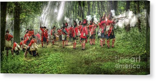 1763 Battle Of Bushy Run Pennsylvania Canvas Print by Randy Steele