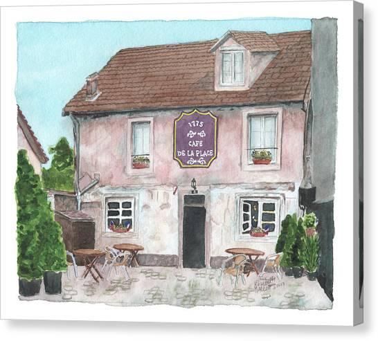 1775 Cafe De La Place Canvas Print