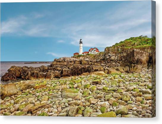 1791 Portland Head Lighthouse  -  1791portlandheadlight185245 Canvas Print by Frank J Benz