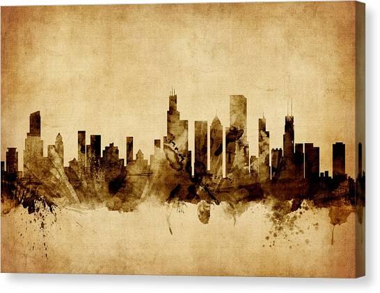 Chicago Skyline Canvas Prints | Fine Art America