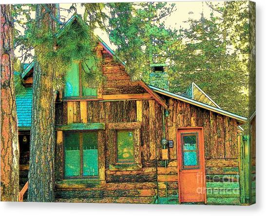 Idyllwild - Houses On The Hill Canvas Print