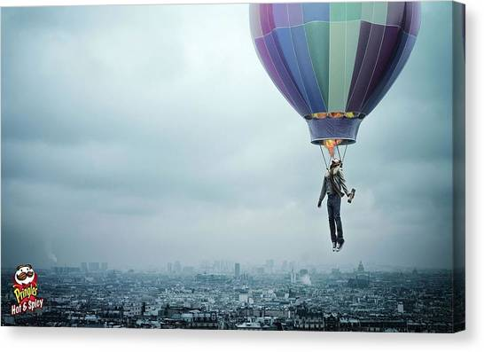 Hot Air Balloons Canvas Print - Manipulation by Super Lovely