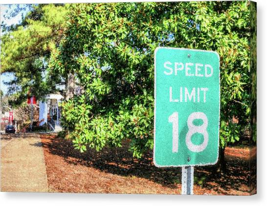 University Of Mississippi Ole Miss Canvas Print - 18 Mph by JC Findley